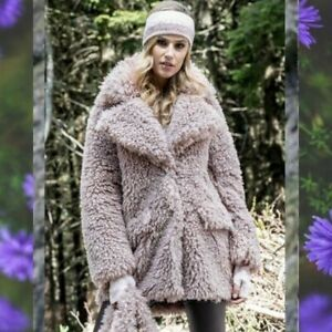 Aex Max VE2341/E Faux Fur Jacket / Dusty Pink - From Florence, Italy