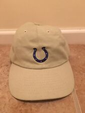 Indianapolis Colts Football Cotton Dad Hat Adjustable Strap Beige Nfl