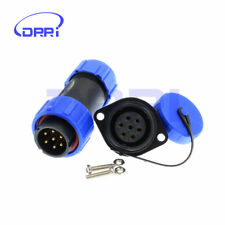SP21 7Pin Waterproof Panel Mount Circular Aviation Cable Screw Install Connector