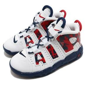 Nike Air More Uptempo TD White Red Blue Void Camo Toddler Infant Shoe CZ7887-100