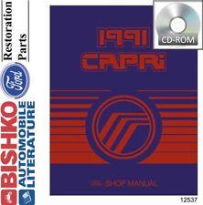 1991 mercury capri shop service repair manual cd engine drivetrain oem