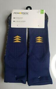 Powersox by GoldToe Men's Sport Ankle Socks Moisture Wicking Knit 6 Pair PS0012