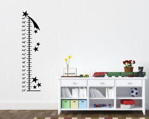 Stars Growth Chart Childrens Room, Boys Room Wall Ruler Star Grow Ruler Wall Art