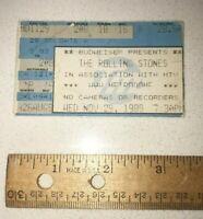 November 29 1989 MTV: Rolling Stones Ticket Stub H.H.H Metrodome Minneapolis, MN