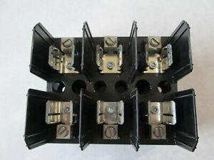 NNB Bussmann J60030-3CR Fuse Holder / Fuse Block With DIN Rail Adapter