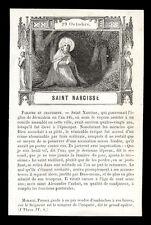 santino grabado 1800 S.NARCISO V. JERUSALÉN