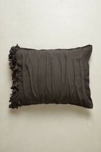 Anthropologie Georgina Two Standard Shams dark grey