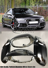 New Audi A7/S7/RS7 Polished Aluminium Mirror Covers RS7 LOOK + Lower Holders