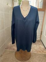 Staccato Woman's Deep Teal Loose Fitting Oversized Sweater Size M