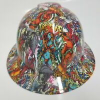 FULL BRIM Hard Hat custom hydro dipped PIRATE BOOTY CAMO SUPER SICK NEW