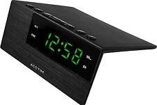 Acctim adaven LED Sveglia moderno camera da letto Tavolo scrivania Display Snooze NERO USB