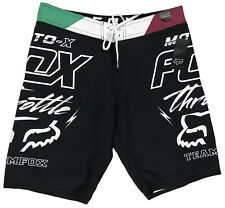 Men's FOX Throttle Moto-X Black + Board Shorts Surf Swim Trunks 31 NEW NWT CooL!
