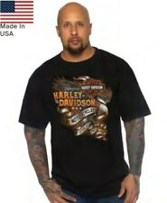 Harley-Davidson T-shirt con backprint H-D ALBA customized Tshirt BLACK