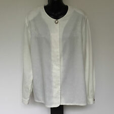 'SPORTSCRAFT EC SIZE '14' CREAM CONCEALED BUTTON FRONT LONG SLEEVE SILKY TOP