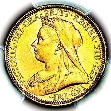 1895 M Queen Victoria Great Britain Australia Melbourne Gold Sovereign PCGS MS62