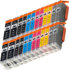 24pk value pack Canon PGI-250XL CLI-251XL Gray Ink Cartridge MG7120 MG6320 wchip