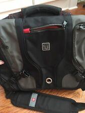 FUL Messenger Travel Flight Bag Tan Orange Laptop Trolley Strap ~17 x 12 x 5 Euc