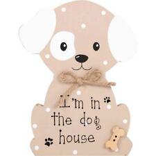 Sono in casa il cane in piedi la placca Faithfull Pooch