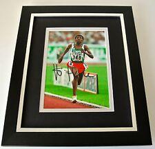 Haile Gebrselassie SIGNED 10x8 FRAMED Photo Autograph Display Marathon & COA