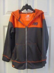 New Balance NB Gray/Orange Hoodie Jacket  Boys'  NEW