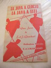Partition La java à Cloclo La Java à Titi 1958 Blanchard