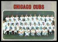 1970 TOPPS CHICAGO CUBS CHICAGO CUBS #593  EXCELLENT+  BUY 20 GET FREE SH