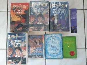 Lot de 7 livres Harry Potter J.K. Rowling Gallimard Folio Junior