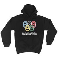 Drinking Team YOUR TEXT HERE PERSONALISED Funny Bar Pub Ring HOODIE Birthday