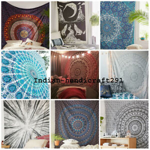Twin Indian Mandala Tapestry Hippie Single Wall Hanging Bedspread Blanket Throw
