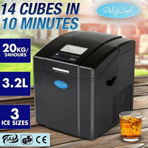 【EXTRA10%OFF】POLYCOOL Portable Ice Cube Maker Machine 3.2L Quick Commercial