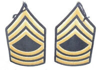 """Set (2) of U.S. Army """"Master Sgt"""" Uniform Patches"""