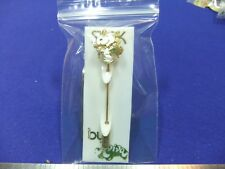 vtg snoopy badge stick pin skipping flowers 1970s aviva card unused old stock