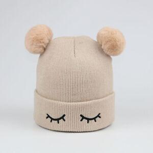 Cute Baby Hats Toddler Kids Boys Girls Knitted Crochet Beanie Winter Warm Caps