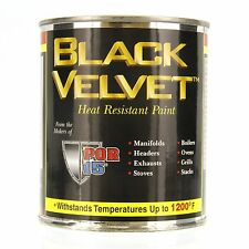 POR-15 44116 Black High Temperature Paint Flat - 8 fl. oz.