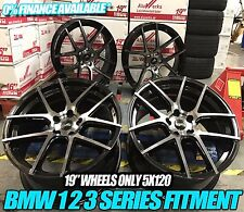 "19"" 405M Style Alloy Wheels MATT Black Machined BMW 3 5 Series E90 E92 F10 F30"
