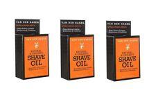 Van Der Hagen Natural and Organic Shave Oil for Smoother Closer Shaves, 1 Oz 3Pk