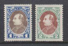 Albania Sc 193-194 MNH. 1925 President Ahmed Zogu, unissued 1f and 2f values