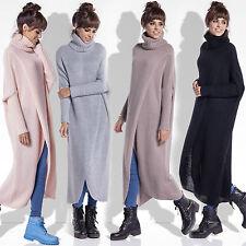 Neu Damen Mantel Pullover Cardigan Sweat Strickjacke Sweatshirt Poncho Kragen