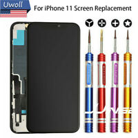 For iPhone 11 LCD Display Touch Screen Digitizer Replacement+Back Plate/ 9 Tools