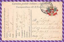 CPA FRANCHISE MILITAIRE CARTOLINA POSTALE ITALIANA IN FRANCHIGIA 1917