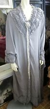 Antique 1910s-1920s Dove Gray Silk FLAPPER ERA  Opera Cocoon Coat Boudoir Wrap