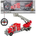1/15 Remote Control Truck Trailer With Light & Sound Big Rig Fire Truck Kids Toy