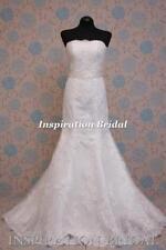 Scoop Neck Column/Sheath Sleeve Wedding Dresses