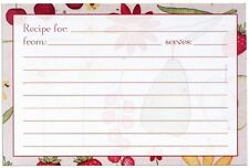 Recipe Card Set of 25 4 x 6 new cards, Fruit 'n' Flowers, Meadowsweet Kitchens