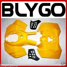 YELLOW Plastic Fairing Fender Guard Cover Kit 150cc 200 250cc Quad Dirt Bike ATV