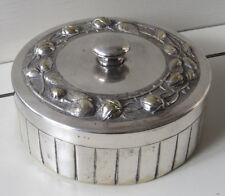 Antica scatola in metallo argentato/ cofanetto - portacioccolatini / art deco