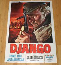 DJANGO manifesto poster affiche Franco Nero Sergio Corbucci Western 1966