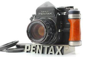 🔸Almost MINT🔸 Pentax 6x7 TTL Film Camera + Takumar 105mm f2.4 Wood Grip Japan