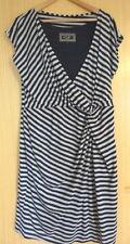 Principles Ladies Dress 20 Navy Blue Grey Stripy Casual Jersey Summer Work