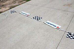 Suzuki MX Shop Sign Poster String Banner White 50' 9117